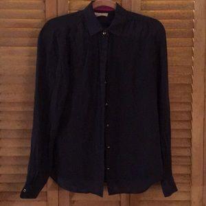 Silk button down blouse